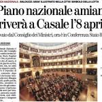 24.3.2013 La Stampa Piano Amianto a Casale l'8 aprile