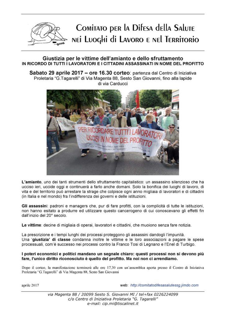 Manifesto-locandina corteo 29 aprile 2017-